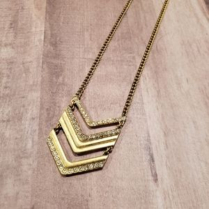J.Crew Chevron Pendant Necklace